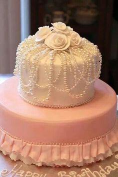 Pearly weddingcake