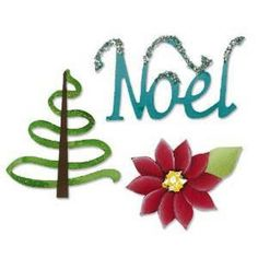 Sizzix Sizzlits Die Set 3PK - Noel   Great for the Holiday Season #Sizzix