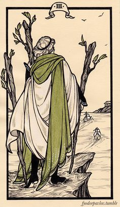 Pavlov's tarot: 3 of wands