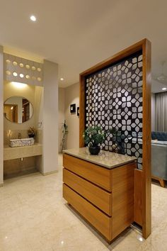 Read all you need to know about living room minimalist. Get inspired simple living room design, modern small living room, Minimalist interior design. Living Room Partition Design, Room Partition Designs, Living Room Divider, Living Room Decor, Living Rooms, Flat Interior, Apartment Interior, Room Interior, Home Interior Design