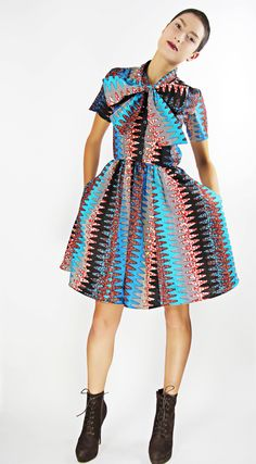 The Minnie Bell- African Print 100% Holland Wax Cotton Dress ~Latest African Fashion, African Prints, African fashion styles, African clothing, Nigerian style, Ghanaian fashion, African women dresses, African Bags, African shoes, Nigerian fashion, Ankara, Kitenge, Aso okè, Kenté, brocade. ~DK