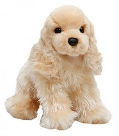 """White Chocolate the Plush Cocker Spaniel, from Dogstuff.com. With her huggably soft plush body, feathered fur and short little tail, White Chocolate will soon become a regular bedtime companion in your home. Buff Cocker Spaniel plush toy measures 12"""" long and is intended as a toy for children, not pets..."""