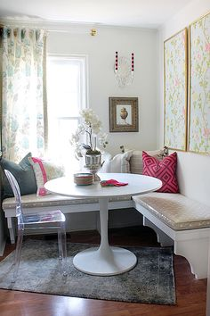 If I ever get around to building one in my kitchen. Corner Banquette Tutorial
