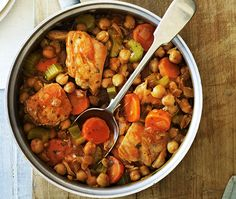 Chicken and Chickpea Hotpot SWANK NOTE:  Use skinless chicken breasts only.