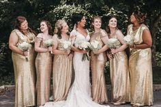 Cheyenne + Wesley's Classic Glam Wedding by Alissa and Ashley Photography Bridesmaid Inspiration, Wedding Inspiration, Wedding Ideas, Post Wedding, Wedding Shoot, Sequin Bridesmaid Dresses, Wedding Dresses, New Years Eve Weddings, Sequin Wedding