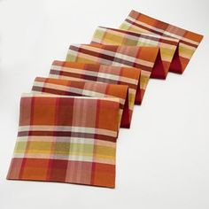 Croft and Barrow Plaid Table Runner