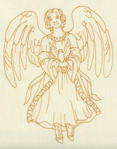 Redwork Angels 05