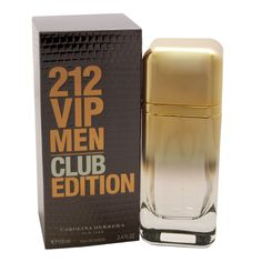 212 VIP Men Club Edition Cologne by Carolina Herrera 3.4 Oz EDT Spray for Men