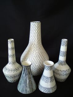 Midwinter Jessie Tait Vases and Candlesticks by Toadstools_, via Flickr