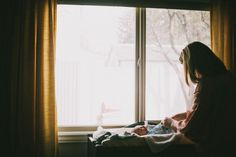 Lifestyle photography newborn session