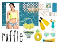 """""""Ruffles - Swimwear"""" by freckled-gypsy on Polyvore featuring Big Mouth, MDSolarSciences, Casetify, Icon and ruffledswimwear"""