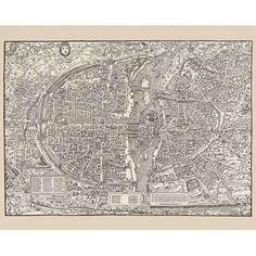 1550 Paris map