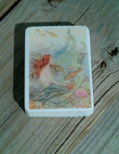 Mermaid Art Bar Soap by waterclosetsoap on Etsy, $6.00