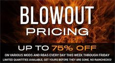 Vapor Joes - Daily Vaping Deals: BLOWOUT: UP TO 75% OFF AT MYFREEDOMSMOKES