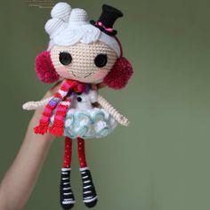 Lalaloopsy doll winter snowflake - FREE Amigurumi Pattern