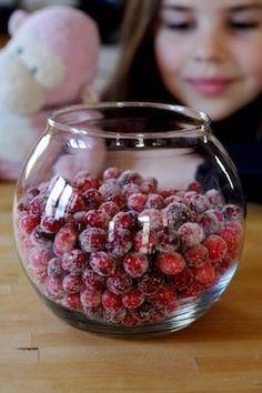 Sparkling Cranberry Centerpiece | onehealthweb.com