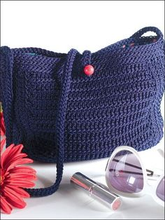 nylon thread 18 purse patterns | An easy crochet pattern and with the nylon thread, it holds its shape.