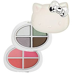 What it is:A tiered compact with four eye shadows and four lip glosses. What it does:This Hello Kitty compact contains two tiers of Charmmy products. The ultra silky shadows glide on effortlessly, providing a rich coat of color that blends and layers #sephoracolorwash