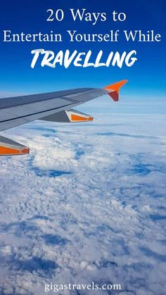 Travelling can be boring. There is so much time waiting around at airports and on planes. Here are 20 ways to keep yourself entertained while travelling. Airports, Airplane View, Planes, Travelling, Budgeting, Travel Tips, Waiting, Entertaining, Ideas