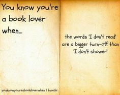 You know you're a book lover when...