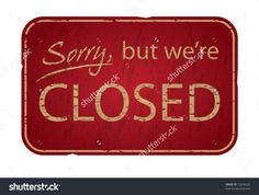 printable were closed sign free business signs diy