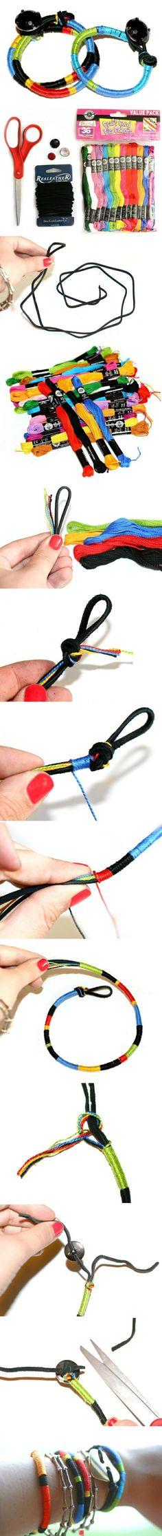 Make bracelet from craft cord   DiyReal.com