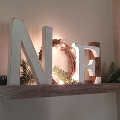 noel sign Noel Letters, Christmas Decor, Mantle Decor, Christmas Gift, Noel Sign With LIGHTS Christmas Wreaths With Lights, Diy Christmas Decorations For Home, Christmas Signs, Rustic Christmas, Simple Christmas, Christmas Crafts, Christmas Christmas, Holiday Decorating, Grapevine Christmas
