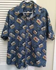 Natural Issue Motorcycle Vintage Car Stamps Cancellation Mark Hawaiian Shirt L… Vintage Hawaiian Shirts, Vintage Cars, Ties, Stamps, Men Casual, Textiles, Motorcycle, Blouse, Natural