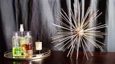 "Sputnik sculpture, uses 2.5"" smoothfoam ball"