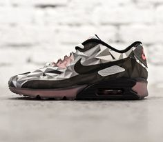 Nike Air Max 90 ICE-White-Cool Grey-Black-Infrared