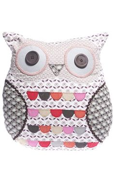 grey owl cushion.