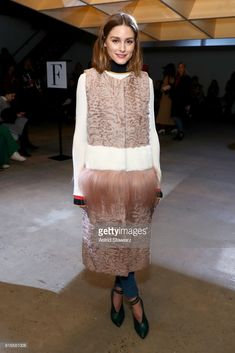 Olivia Palermo attends the Self-Portrait Fall Winter 2018 -Front Row - New York Fashion Week at SIR Stage37 on February 10, 2018 in New York City.