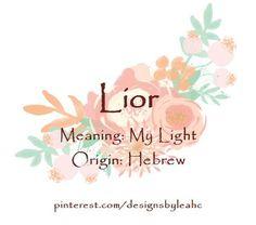 Lior - my light