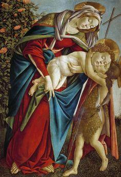 Мадонна с Младенцем и маленьким Иоанном Крестителем. Сандро Боттичелли