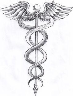 caduceus tattoo - Google Search