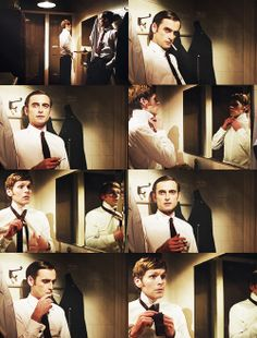 Shaun Evans and Jack Laskey as Endeavour Morse and Peter Jakes. YUM.