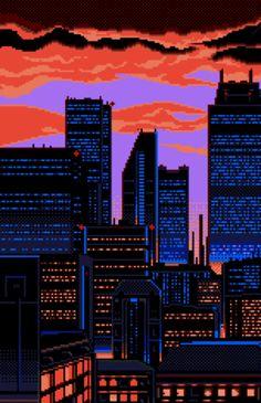 gif gifs pixel art pixel pixels art gif 16 bit 8 bit bit pixel gif bits pixel art gif 32 bit bit art bits-and-pixels Vaporwave Wallpaper, Aesthetic Art, Aesthetic Anime, Pixel Art Gif, Pixel City, 8 Bit Art, Retro Waves, Anime Scenery, Retro Art