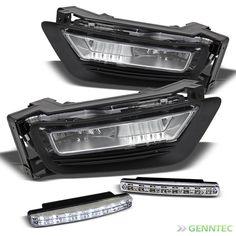 For 13-14 Accord Sedan Fog Lights Completed Set + Daytime Running Lights DRL
