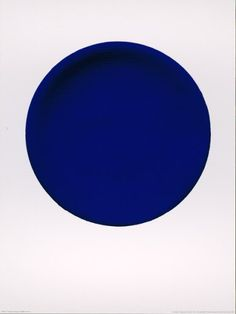 Yves Klein, I love this artist.  Known for painting in Blue.  Surprised he isn't more well known.