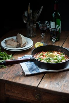 Garnelen in Rotwein & Olivenöl Tomatensugo