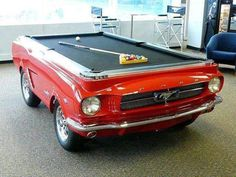 Mustang+pool table...