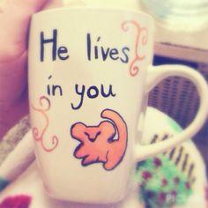 The Lion King Inspired Mug on Etsy, $8.50