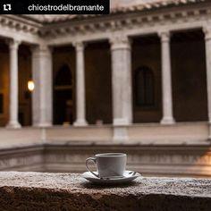 #photooftheday  @myitaliansketchbook  Espresso&Renaissance   #chiostrodelbramante #rome