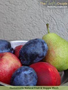 Homemade Fruit and Veggie Wash (a Dr. Oz Recipe)