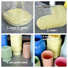 Painting mason jar with acrylic