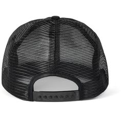 Black Mesh Cap ($20) ❤ liked on Polyvore featuring accessories, hats, caps, snapback, black hat, black mesh hat, black snapback hats, mesh hat y snap back caps