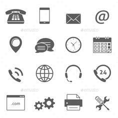 Contact Us Icons — JPG Image #adress #globe • Available here → https://graphicriver.net/item/contact-us-icons/15948898?ref=pxcr