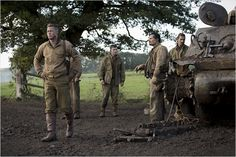Fury : Photo Brad Pitt, Logan Lerman, Michael Peña, Shia LaBeouf