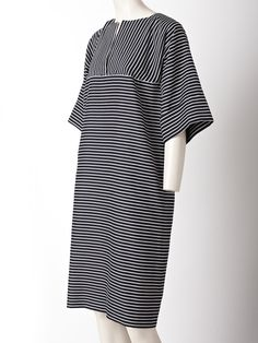Geoffrey Beene Stripe Silk Day Dress