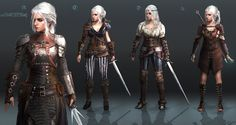 Klaus-wittmann-ciri-redesign by Scratcherpen female fighter ranger pirate armor clothes clothing fashion player character npc | Create your own roleplaying game material w/ RPG Bard: www.rpgbard.com | Writing inspiration for Dungeons and Dragons DND D&D Pathfinder PFRPG Warhammer 40k Star Wars Shadowrun Call of Cthulhu Lord of the Rings LoTR + d20 fantasy science fiction scifi horror design | Not Trusty Sword art: click artwork for source